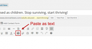 wordpress paste as plain text