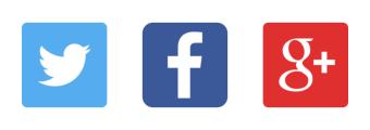 Twitter, Facebook, Google Plus