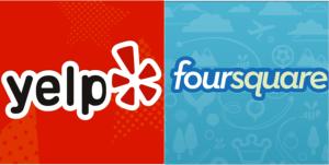 Yelp, Foursquare